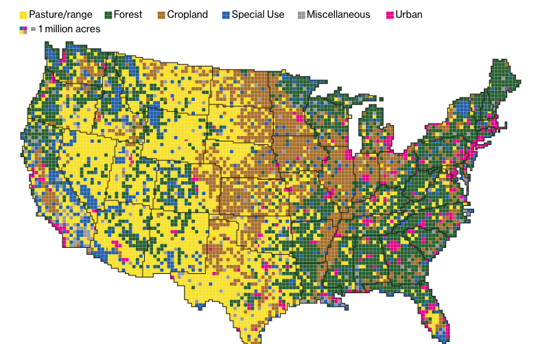 Bloomberg – Here's How America Uses Its Land