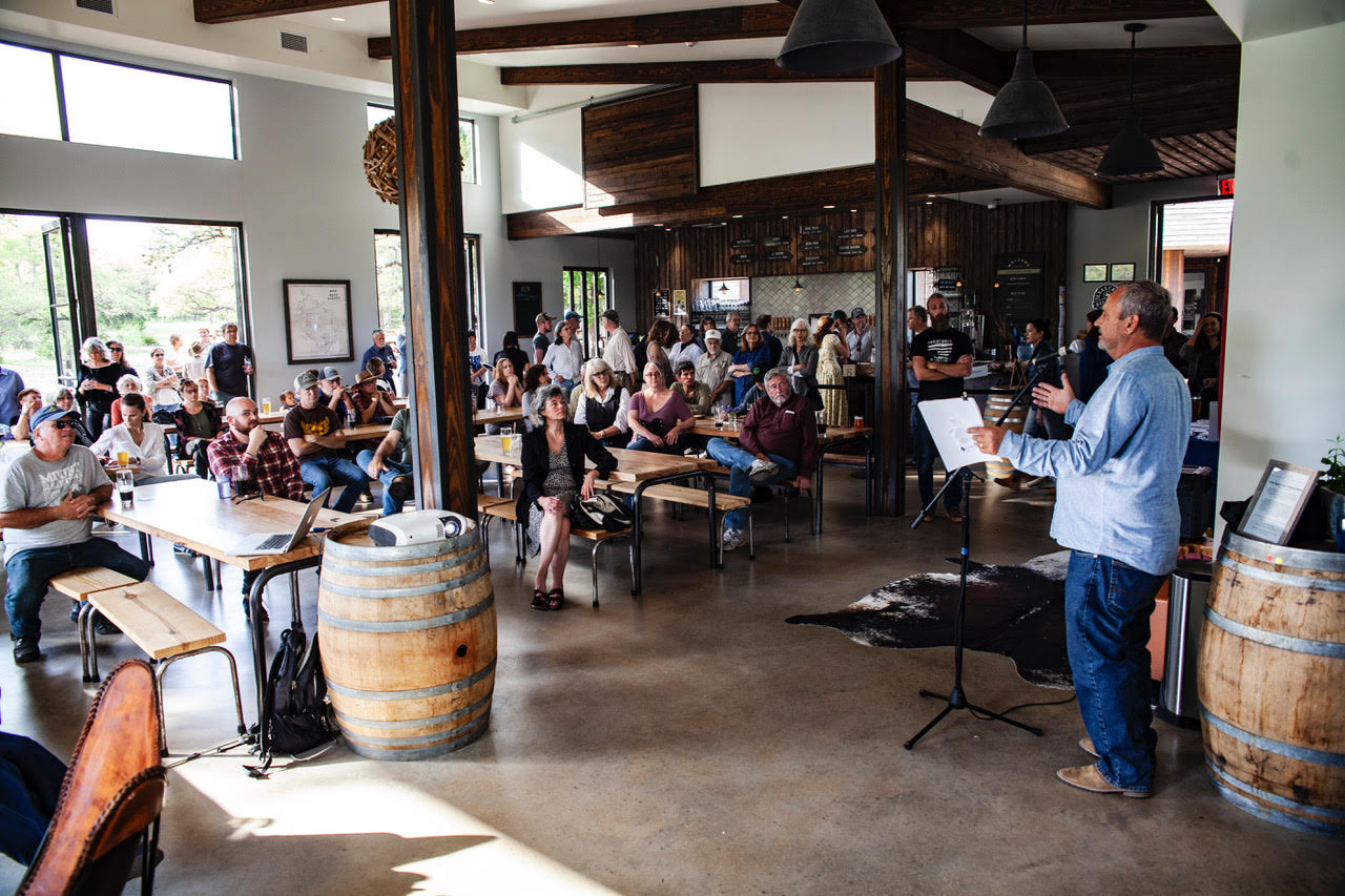 """Save the Hill Country"" Gathering at Vista Brewing Bonds Local Resistance to Pipeline Project"