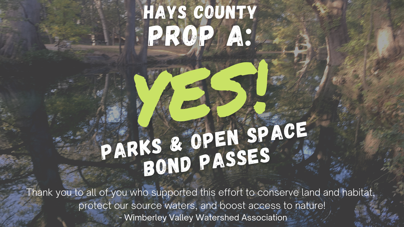 Hays Co Prop A PASSED!