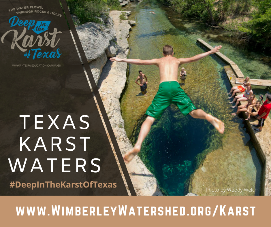 Hill Country springs, rivers, and groundwater supplies are part of the karst landscape.